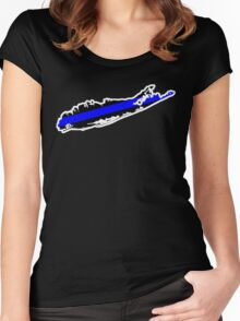 Long Island Thin Blue Line Women's Fitted Scoop T-Shirt