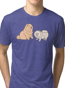 Chow Chow Dog Couple Tri-blend T-Shirt