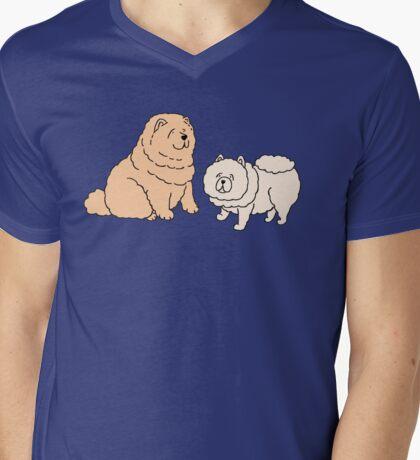 Chow Chow Dog Couple Mens V-Neck T-Shirt