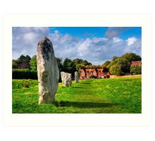 Avebury Village Today - Ancient British Standing Stones Art Print