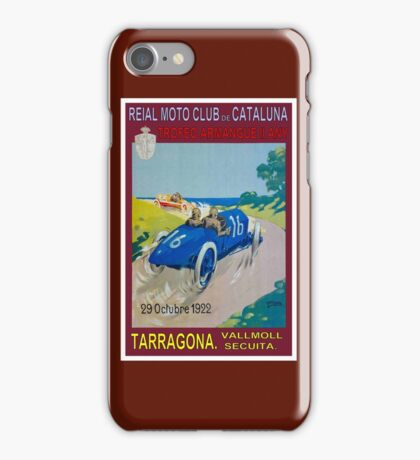 CATALUNA TARRAGONA; Vintage Auto Racing Advertising Print iPhone Case/Skin