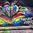 You are Loved ~ Hosier lane graffiti by Roz McQuillan