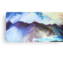 Over The Distant Mountains  Canvas Print