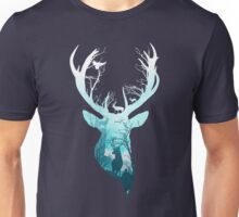 Deer Blue Winter Unisex T-Shirt