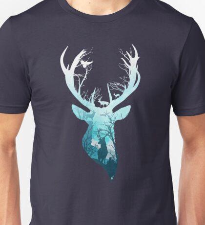 Deer Blue Winter Unisex T-Shirt