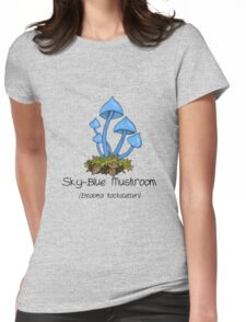 Sky Blue Entoloma Womens Fitted T-Shirt