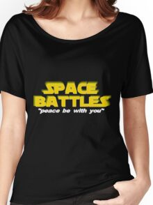 SPACE BATTLES peace be with you Women's Relaxed Fit T-Shirt