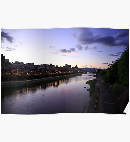 The Kamogawa River in Kyoto, Japan  Poster