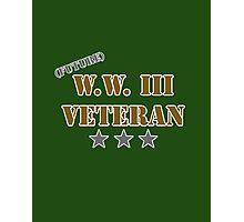 (Future) W.W. III Veteran Photographic Print