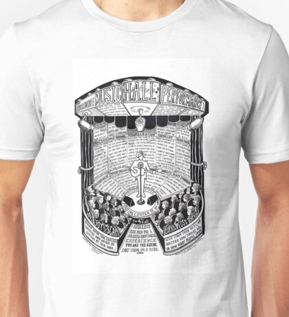 Performance Hall Guide by Ellis Paul Unisex T-Shirt