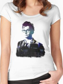 David Tennant - Doctor Who Women's Fitted Scoop T-Shirt