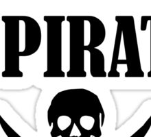 I'm Actually A Pirate black Sticker