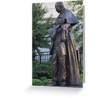 Archdiocese Garden Statute of Pope John Paul Baltimore MD Greeting Card