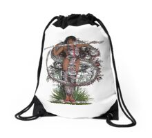 Eastern Goddess ~ Silver Dragon Drawstring Bag