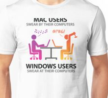 Mac users swear by their computers Unisex T-Shirt