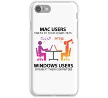 Mac users swear by their computers iPhone Case/Skin