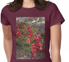Templetonia Red Womens Fitted T-Shirt