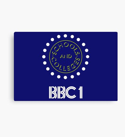 BBC1 Schools and Colleges - 1980s Canvas Print