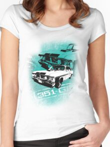 Ford Falcon XY GTHO Phase III (Grunge) © Women's Fitted Scoop T-Shirt