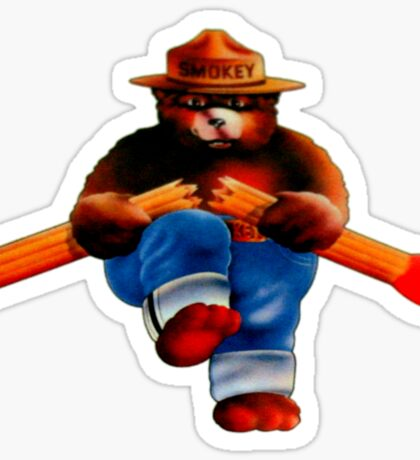 Vintage Smokey the Bear Match Break Sticker