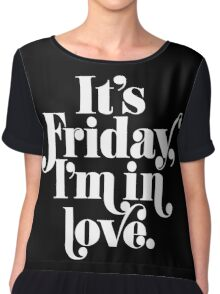 Friday I'm In Love {White on Black Version} Chiffon Top