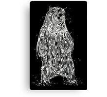 Bearing the Weight of Being a Bear White Canvas Print