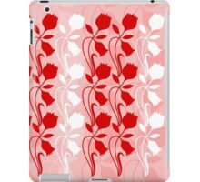 Layered Floral Silhouette Print (2 of 8 please see description) iPad Case/Skin