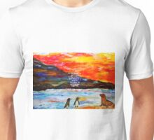 True Friendship Inspirational Love Quote With Penguins Painting  Unisex T-Shirt