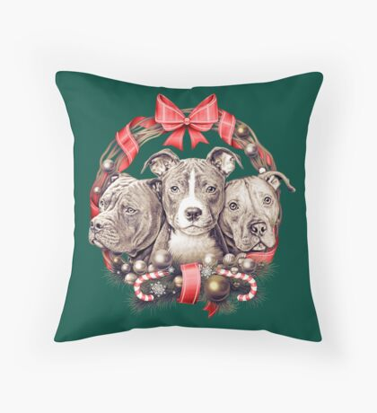 It's a Pit Bull Christmas Throw Pillow