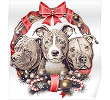 It's a Pit Bull Christmas Poster