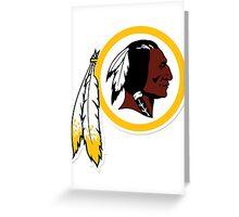 Washington Redskins Greeting Card