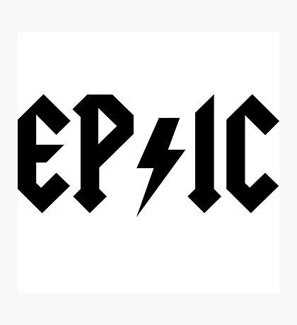 Epic Rock Photographic Print