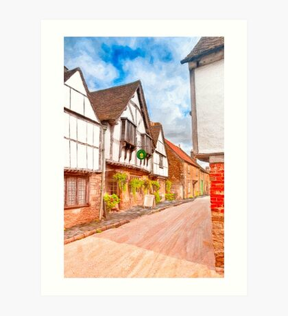 Classic Old English Village - Tudor Britain Art Print