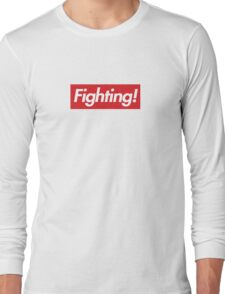 Fighting- Red Design Long Sleeve T-Shirt