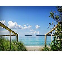 Where the Sea meets the Sky... Photographic Print