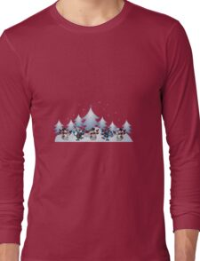 Christmas scene Long Sleeve T-Shirt