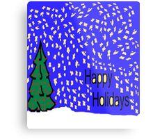 Christmas tree scene with stars and snow XMAS16   Metal Print