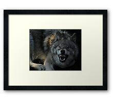 Malicious Intent Framed Print