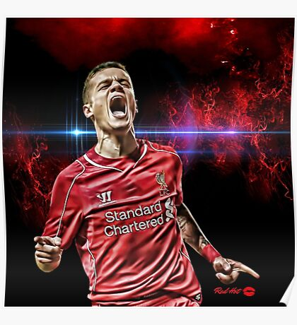 "RED HOT Philippe Coutinho ""COSMIC"" Poster"