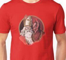 Krampus and Santa Christmas Unisex T-Shirt