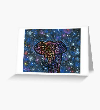 Galactic Elephant Greeting Card