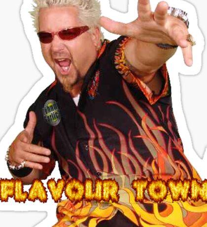 Guy Fieri Flavour Town Sticker