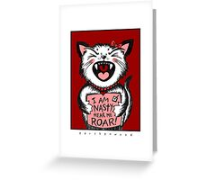 Nasty Pussycat Greeting Card