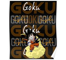 Goku collage Poster