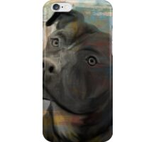 Pit Bull Piglet in Paint iPhone Case/Skin