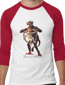 Gruss vom (Greetings From) Krampus Men's Baseball ¾ T-Shirt