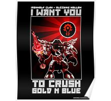 Crush Gold n Blue Poster
