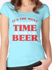 It's The Most Wonderful Time For A Beer Women's Fitted Scoop T-Shirt