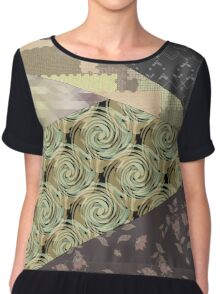 Abstraction . Geometric shapes .  Chiffon Top