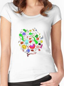 Colourful Characters Women's Fitted Scoop T-Shirt